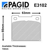 Pagid Girling 14LF Caliper Brake Pad Set