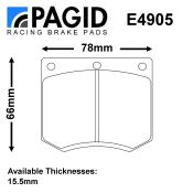 Girling M16/P16 Caliper Brake Pad Set