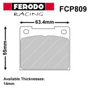 Ferodo Girling 14LF Caliper Brake Pad Set