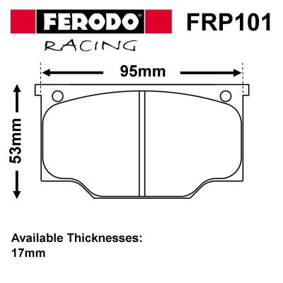 Ferodo Competition Brake Pads for O.E. Calipers