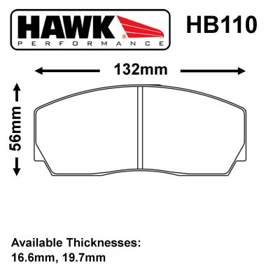 Hawk Brake Pads for Competition calipers