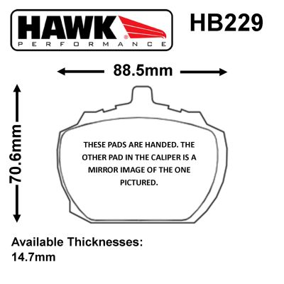 Hawk Competition Brake Pads for O.E. Calipers