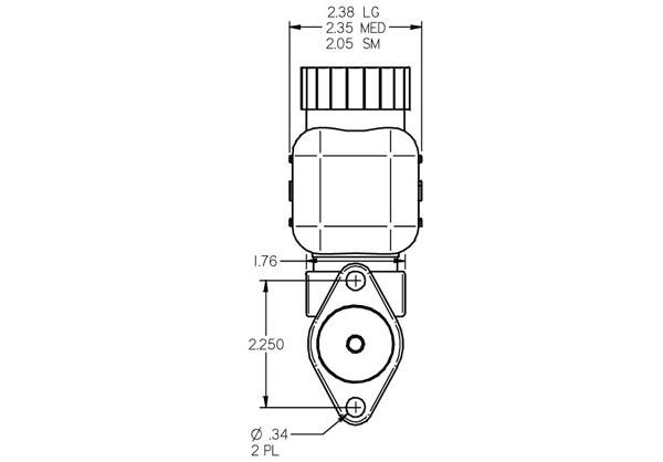 tilton 74 series brake or clutch master cylinder - cylinder only or full kits