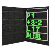BG Racing Standard Aluminium Pit Board, Bag and Number Set