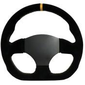 APS Proto 300mm D Shaped Flat 3 Spoke Steering Wheel Undrilled Centre