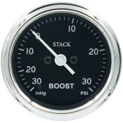 STACK Classic Professional Stepper Motor Boost Pressure Gauge PSI or Bar