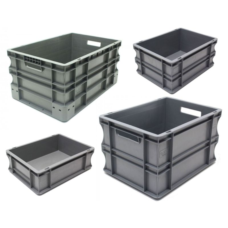 Heavy Duty Plastic Euro Storage Boxes Competition Supplies