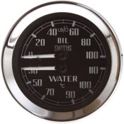Smiths Mechanical Dual Oil Pressure and Water Temperature Gauge