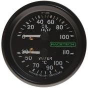 Racetech Mechanical Oil Pressure/Water Temperature Gauge 100 PSI / 110°C