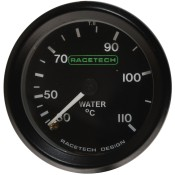 Racetech Mechanical Water Temperature Gauge 30-110 °C
