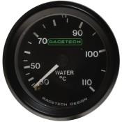 Racetech Mechanical Water Temperature Gauge 30-110 °C