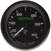 Racetech Mechanical Oil Temperature Gauge 40-140 °C