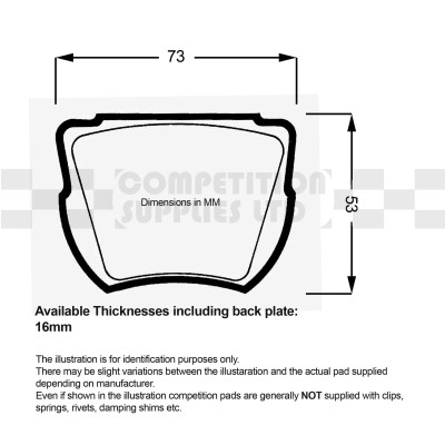 APS Competition Brake Pads for O.E. Calipers